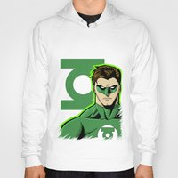 green lantern Hoodies featuring Green Lantern by J. J.