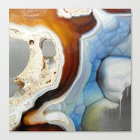 geode Canvas Prints featuring Geode by Stephanie Calvert