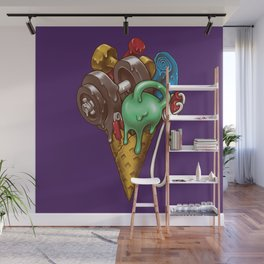 Ice Cream Workout Wall Mural