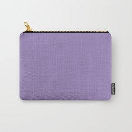 Plain Solid Color Soft Violet Carry-All Pouch