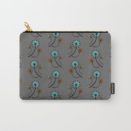 Mid Century Modern Dandelions on Gray Carry-All Pouch