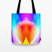 psychedelic art Tote Bags featuring Psychedelic by Rafael Salazar