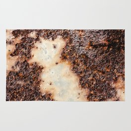 Cool brown rusty metal texture Rug