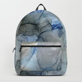 Rippling Water: Original Abstract Alcohol Ink Painting Backpack
