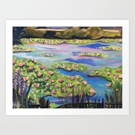 Plein- Air Waterlillies   Art Print