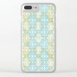 Batik Scroll Clear iPhone Case
