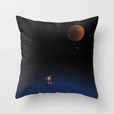 The Red Moon Throw Pillow