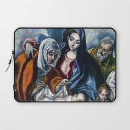 """El Greco (Domenikos Theotokopoulos) """"The Holy Family with Saint Anne and the Infant John the Baptis"""" Laptop Sleeve"""