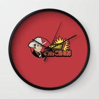 will ferrell Wall Clocks featuring Whammy design by Buby87