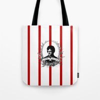 will graham Tote Bags featuring Will Graham by JM London