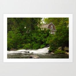 Brandywine River and First Presbyterian Church Rural Landscape Photo Art Print