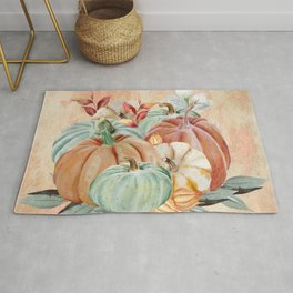 Watercolor Pumpkin Collection: Fall Harvest Rug