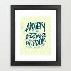 Kierkegaard on Anxiety Framed Art Print