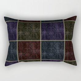 Medieval Damask Patchwork Rectangular Pillow