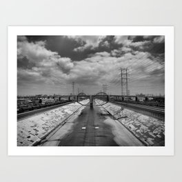 6th St Bridge Art Print