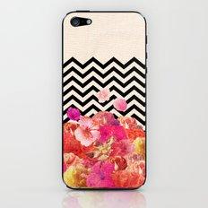 Chevron Flora II iPhone & iPod Skin