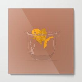 Gold Fish tank Metal Print
