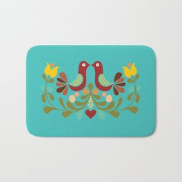 Vector folk art design Bath Mat