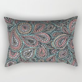 Paisley pattern in pastel colors Rectangular Pillow