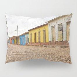 Streets of Trinidad Cuba Cobblestone Stucco Old City Colorful Latin America Caribbean Island Tropica Pillow Sham