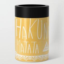 Hakuna Matata Yellow Can Cooler