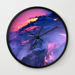 Kilauea Volcano Lava Flow. 4 Wall Clock