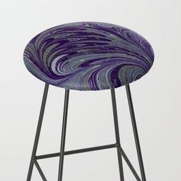 Purple, Blue, & Green Marbled Bar Stool