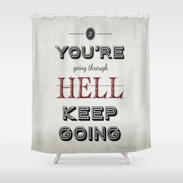Churchill Quote Shower Curtain