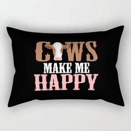 Cows Make Me Happy Rectangular Pillow