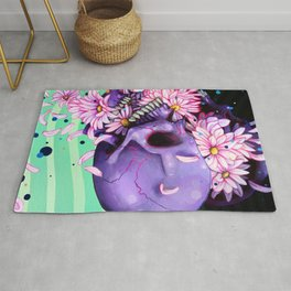 Pushing Up Daisies painting Rug