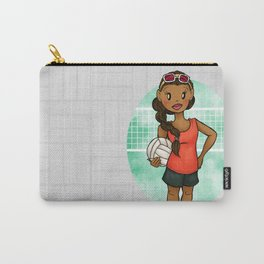 Volleyball Girl Carry-All Pouch