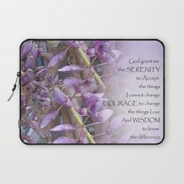 Serenity Prayer Wisteria Laptop Sleeve