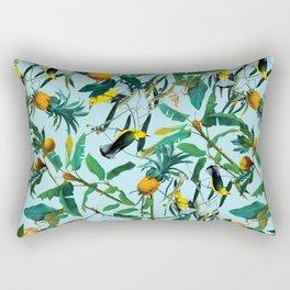 Fruit and Birds Pattern Rectangular Pillow