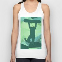 snowboard Tank Tops featuring Snowboard by B Remembered Designs