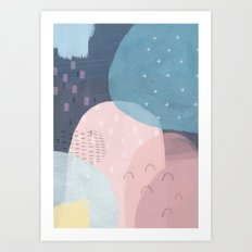 01 107abstract space Art Print