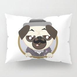 Great Detective Poirpug. Poirot the Pug Pillow Sham