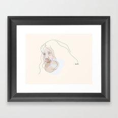 Portrait: Alan Moore Framed Art Print