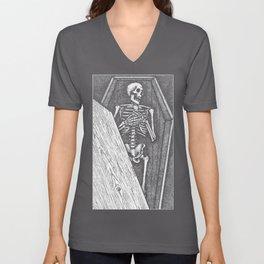 Death Bed Stipple Unisex V-Neck