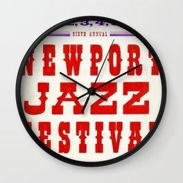 1959 Newport Jazz Festival Vintage Advertisement Poster Newport, Rhode Island Wall Clock