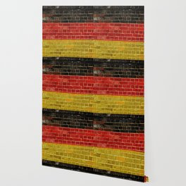 Germany flag on a brick wall Wallpaper