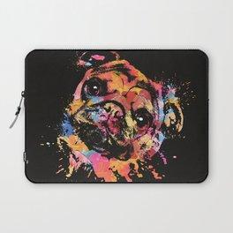 Pastel Paint Pug dog Laptop Sleeve