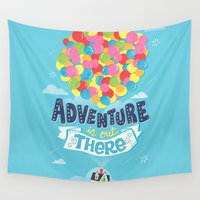 risa rodil Wall Tapestries featuring Adventure is out there by Risa Rodil