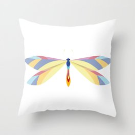 Colorful Dragonfly Throw Pillow