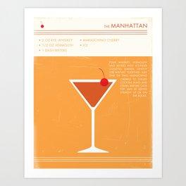 Manhattan Cocktail Art Art Print