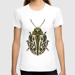Green, White, Pink Beetle T-shirt