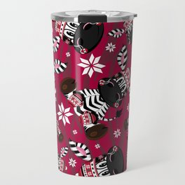 Bobble Hat Zebra Travel Mug