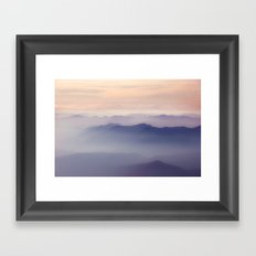Forest Fires From 10,000ft on Middle Sister Mountain Framed Art Print