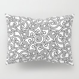 Mandala black 4 Pillow Sham