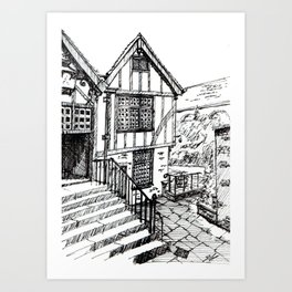 Traditional House in York, England Art Print