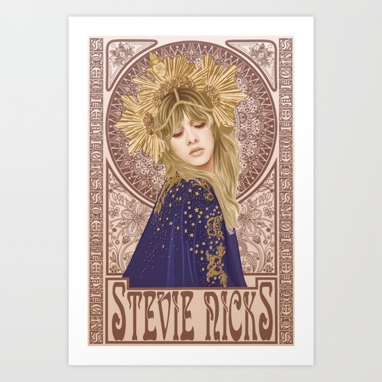 Stevie Nicks Mucha by michaeljeanrenaud